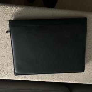 Tumi Office - Tumi Black Leather Zip Around Notebook